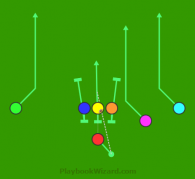 7 on 7 flag football play