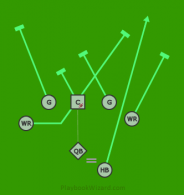 Right RB Wing Lead is a 7 on 7 flag football play