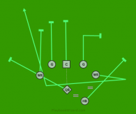HB Wing 2 Reverse is a 7 on 7 flag football play