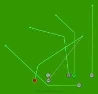 """Clear Right - """"Lion 1"""" is a 7 on 7 flag football play"""