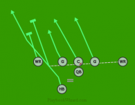 PANTHER LT , RT MOTION HB SPRINT is a 7 on 7 flag football play