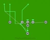 I - Rt - Jet - 938 Out is a 7 on 7 flag football play
