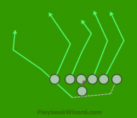 pass is a 7 on 7 flag football play